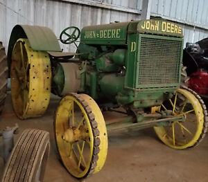 1926 John Deere Nickel D Antique Classic Tractor Collectible Vintage