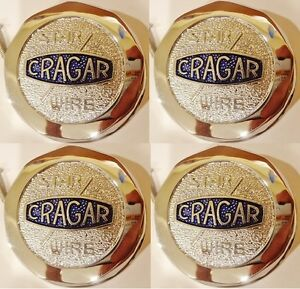 Set Of 4 four Brand New Cragar Star Wire Wheel Chrome Center Caps In Stock