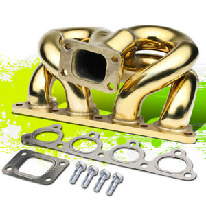 Gold Ramhorn Performance T3 Flange Turbo Manifold For 90 01 B engines Integra