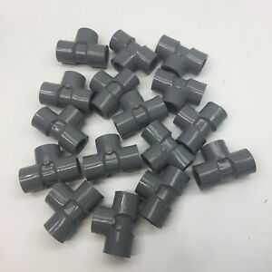 Lot Of 16 Pvc 1 2 Tee Fitting Schedule 80