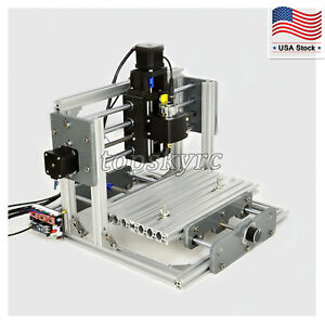 Cnc 2417 Mill Router Kit Usb Desktop Metal Engraver Pcb Milling Machine Mini Us