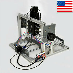 Cnc 2417 Mini Diy Mill Router Usb Desktop Metal Engraver Pcb Milling Machine Us
