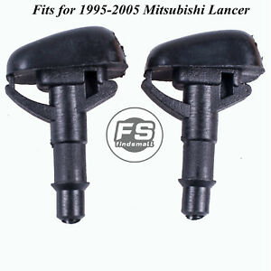 2pcs Windshield Washer Wiper Water Spray Nozzle For 1995 2005 Mitsubishi Lancer
