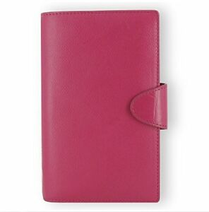 Filofax Weekly Daily Planner Calipso Leather Compact Deep Pink Organizer Agen