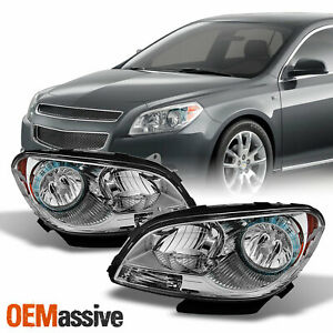 Fit 2008 2012 Malibu Replacement Headlights Headlamps Lamp L R 08 09 10 11 12