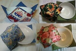 Buy 3 Get 1 Free read details Microwavable Bowl Holder Cozy 20 Patterns $6.00