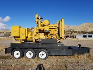 Caterpillar D353e 300kw Generator pintle Hook With Onboard Fuel