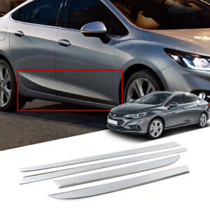 Chrome Side Skirt Under Line Molding Trim 4pcs For Chevrolet 2017 2018 Cruze