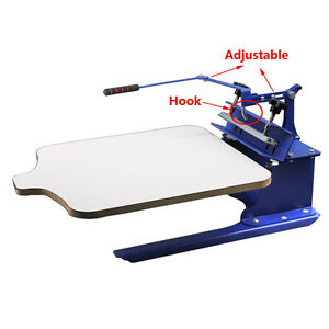 Single Color 1 Station Silk Screen Printing Machine Diy New Type