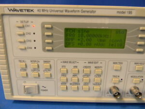 Wavetek 195 Universal Waveform Generator With Option 001 30 Day Warranty
