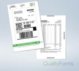 Duplex Laser 1 Up Shipping Label Packing Slip
