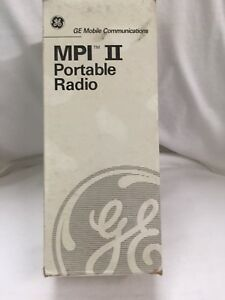 Ge Walkie talkie Handheld Portable Two way Radio Mpi ii 2 Ericsson Vhf New