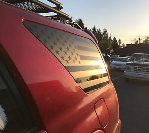 X2 American Flag Decals For Rear Windows Fits 2003 2009 Toyota 4runner Sr5