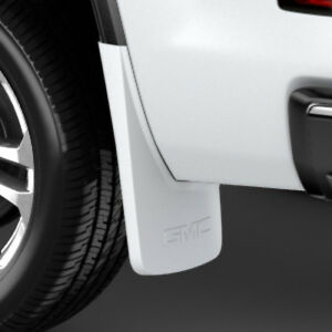 14 18 Gmc Sierra Splash Guards Mud Flaps Rear Summit White Gm 22902407
