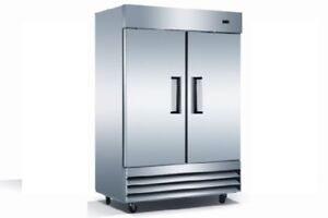 Commercial 2 Door Reach in Freezer Stainless Steel 2 Door Freezer
