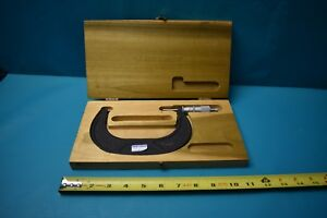 Used Scherr Tumico Outside Micrometer 4 5 With Case