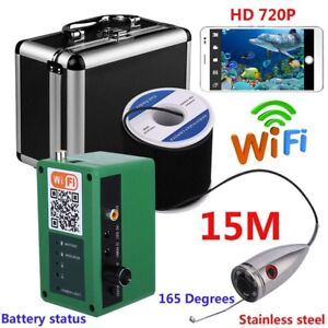 HD Wifi Wireless Underwater Fishing Camera Video Recording For IOS Android APP