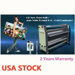 63 2500w High End Full auto Wide Format Hot Laminator Ac110v 60hz Us Stock