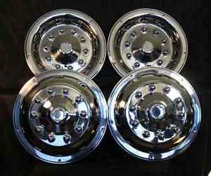 22 5 Wheel Simulators Hubcaps 10 Lug Bus Truck Rv Semi Universal Fit Motorhome