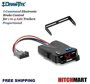 Draw Tite I command Trailer Brake Controller Proportional For 1 4 Axles 5535