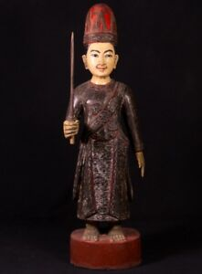 19th Century Antique Burmese Nat Statue From Burma Antique Buddha Statues