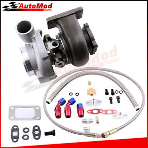 Gt30 Gt3037 Gt3076 Turbo Charger 500hp 0 82 A R Oil Drain Return Feed Line Kit