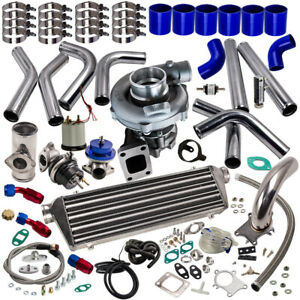 T3 T4 T04e Universal Turbo Charger Kit Stage Iii wastegate intercooler piping
