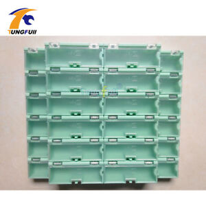 30 Pcs Electronic Case Kit Components Storage Boxes Containers Green And Larger