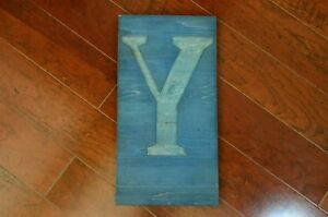 19 1 8 By 10 Letter Y Wood Type Letterpress Printers Block Blue