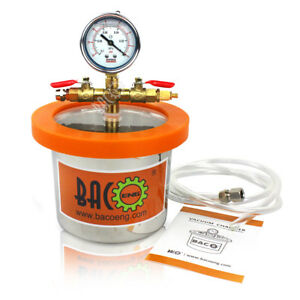 Bacoeng 2quart Stainless Steel Mini Vacuum Chamber