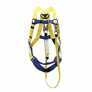 Peakworks Fall Protection V8252356 Osha ansi Compliant Safety Harness And 6 Ft