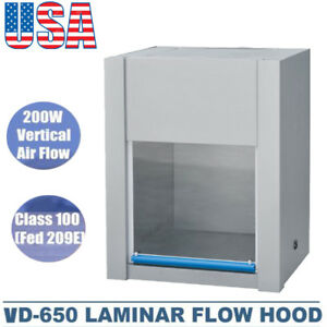 Us Ship Vd 650 Horizontal Laminar Flow Hood Clean Bench Workstation Single sided