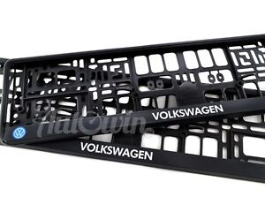 Volkswagen Golf R Euro Standart License Plates Frames With Vw Logo 2pcs