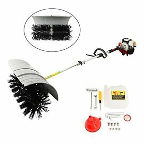 Hand Held Brushes Walk Behind Sweeper Broom Concrete Driveway Cleaning 52cc