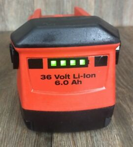 Hilti 36v 6 0 Ah Li ion Capacity Rechargeable Lithium Battery Volt Te 30 A36 Cpc