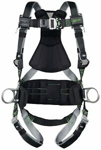Miller Revolution Full Body Safety Harness With Quick Connectors Side D rings