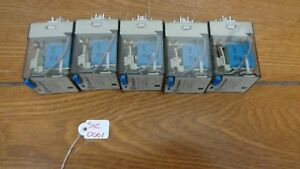 Lot Of 5 Finder 60 12 9 024 0070 Relays 10a 24vdc Coil 8 Pin