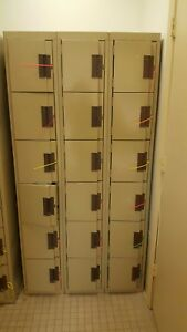 Edsal Sl8005tn Box Locker Add on 6 Tier Good Used Condition