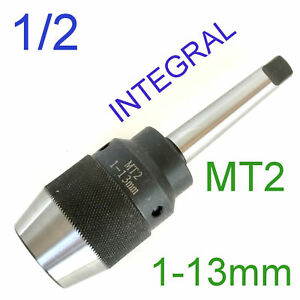 1pc Keyless 1 32 1 2 Drill Chuck W integral Integrated Mt2 2mt Shank For Cnc S