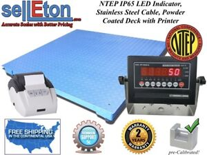 Ntep Legal 60 X 60 Floor Scale Industrial Digital Printer 10 000 X 2 Lb