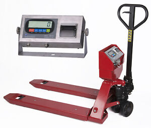 Pallet Jack Scale With Built in Printer L 5000 Lb Capacity