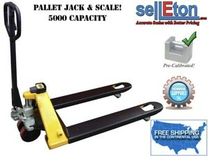 Pallet Jack Scale With Capacity Of 5 000 Lbs Warehouse Industrial Handling