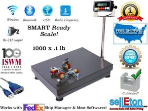 1000lb 0 1lb Bench Shipping Scale Portable Warehouse Scale Industrial 22 X 32