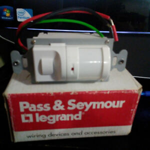 Pass Seymour Passive Infrared Wall Switch Ws3000 w