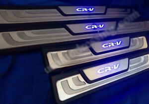 Led Scuff Plate Stanless Door Sill Fit Honda Crv Cr v Year 2012 2016