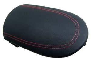 Center Console Armrest Leather Synthetic Cover For Nissan 370z 08 19 Red Stitch