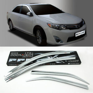 Chrome Door Visor For 2012 2014 Toyota Camry