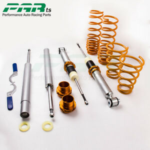 Coilover Adjustable Suspension Lowering Shock Kit For Bmw 5 Series E34 88 97