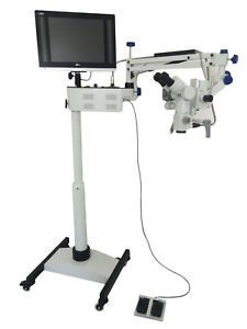 Dental Microscope 5 Step floor Type Led Tv Hd Hi Focus Camera Full Set
