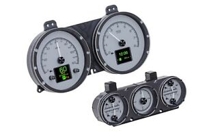 1967 Camaro Firebird With Console Gauges Dakota Digital Hdx Gauge Cluster Set